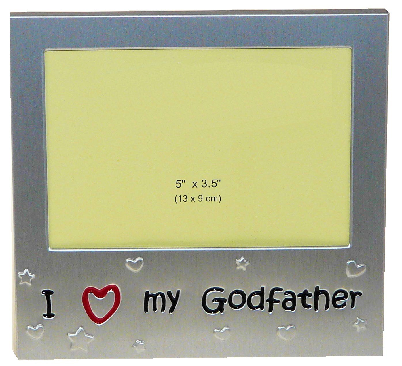 I Love My GodFather Photo Picture Frame Gift 5 x 3.5