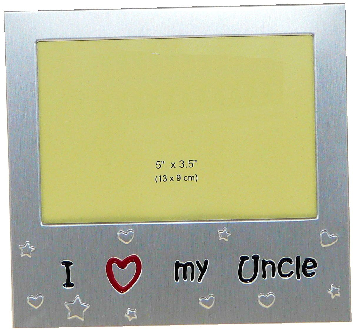 i love my uncle photo picture frame gift 5 x 35