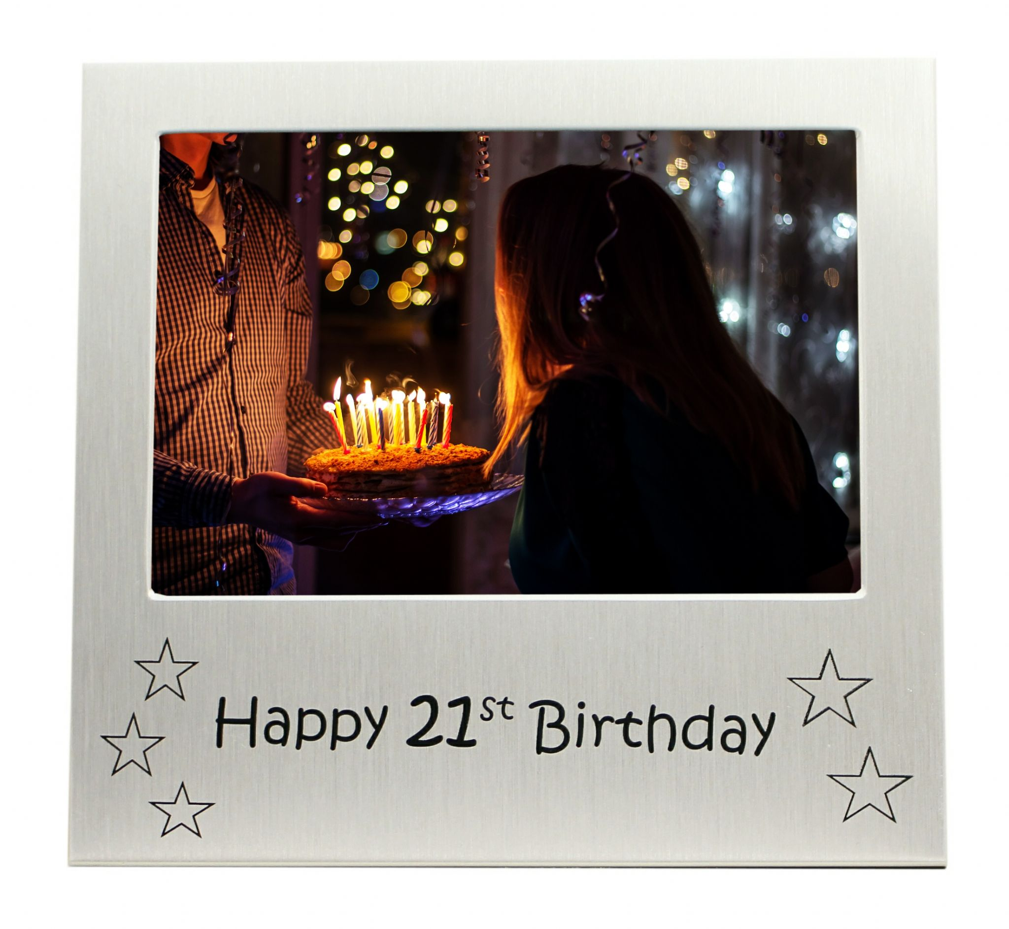 Happy 21st Birthday Photo Frame Gift Photo Size 5 X 35 Inches
