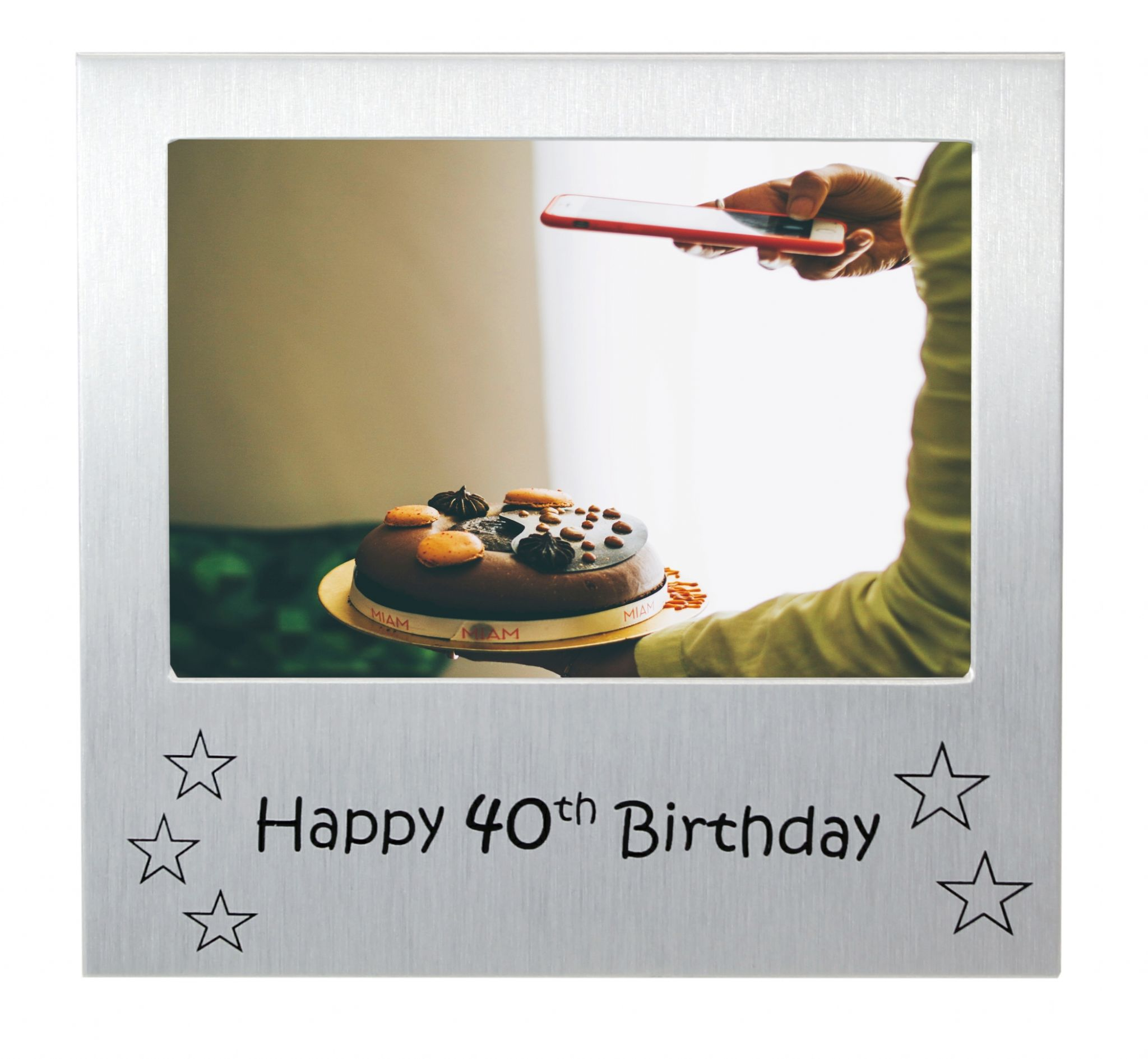 Happy 40th Birthday - Photo Frame Gift - Photo Size 5 x 3.5 Inches ...