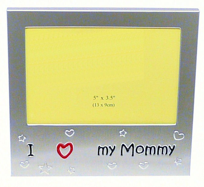 I Love My Mommy Photo Picture Frame Gift 5 X 35 Brushed